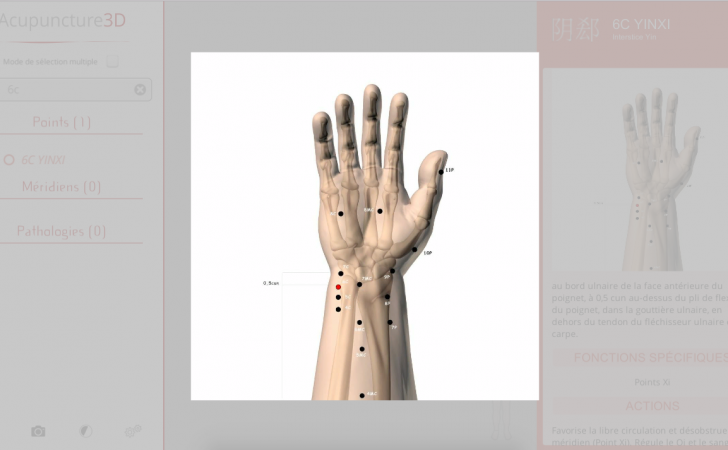 Acupuncture 3D features - The most complete 3D software to learn